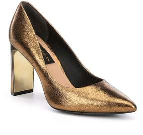 Donna Karan Criss Metallic Leather Dress Pumps