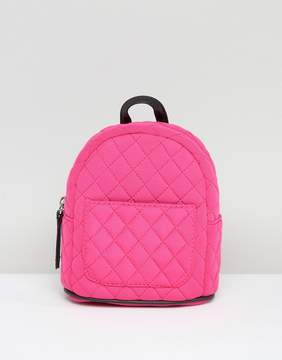 New Look Mini Neon Quilted Backpack