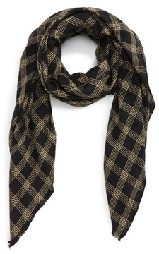 Sole Society Women's Check Twill Scarf