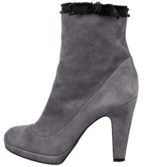 Marc by Marc Jacobs Suede Round-Toe Ankle Boots