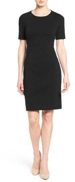 T Tahari Women's 'Judianne' Short Sleeve Sheath Dress