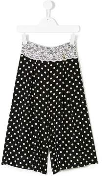 Elisabetta Franchi La Mia Bambina polka dots wide-legged trousers