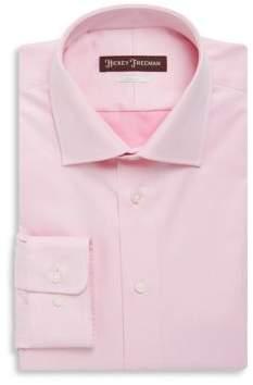 Hickey Freeman Classic Fit Solid Twill Dress Shirt