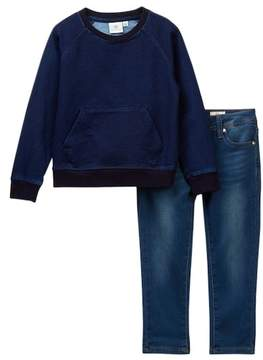 AG Jeans Sweatshirt & Jeans Set (Toddler Boys)