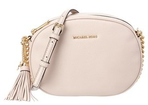 MICHAEL Michael Kors Ginny Leather Messenger. - PINK - STYLE