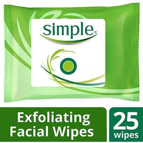 Simple Facial Wipes Kind to Skin Exfoliating