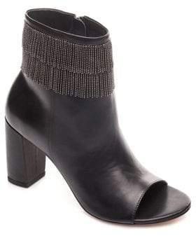 Bernardo Silver Bead Leather Booties