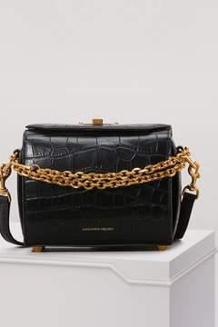 Alexander McQueen Croc Calfskin Shoulder Box Bag
