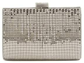 Whiting & Davis 'Diamond Drips' Evening Clutch - Metallic