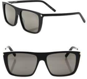 Saint Laurent 56MM Flat-Top Sunglasses