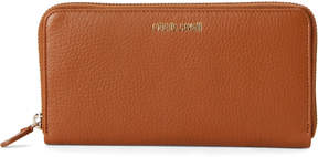 Roberto Cavalli Brown Leather Zip-Around Wallet