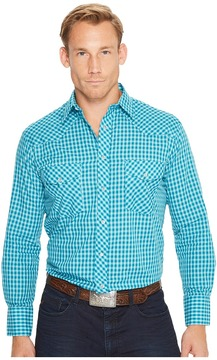 Roper 1201 Turquoise Check Men's Clothing