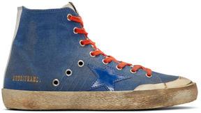 Golden Goose Deluxe Brand Indigo Canvas Francy High-Top Sneakers