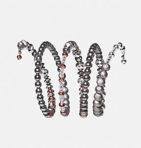 Avenue Textured Tonal Coil Stretch Bracelet