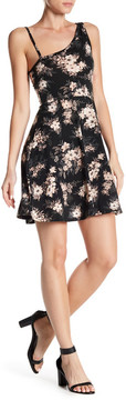 Angie Fit & Flare Floral Print Dress