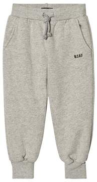 Bobo Choses Grey Melange Embroidered Track Pants