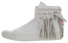 Buscemi Fringe High-Top Sneakers