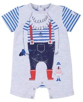 Petit Lem Baby's Graphic-Print Coveralls