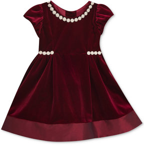 Rare Editions Velvet A-Line Party Dress, Toddler Girls (2T-5T)