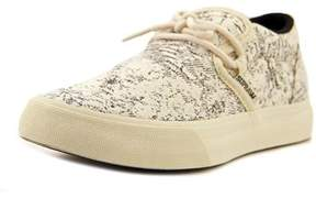 Supra Cuba Women Round Toe Canvas Ivory Skate Shoe.