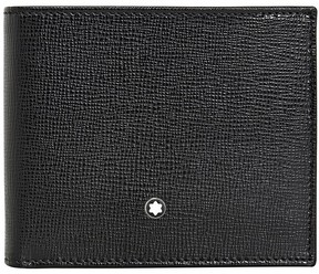 Montblanc 6cc Wallet and 2 cc Pocket Gift Set- Black
