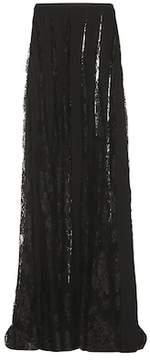 Murad Zuhair Lace and crêpe skirt