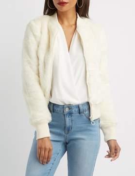 Charlotte Russe Faux Fur Bomber Jacket