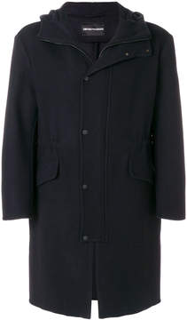 Emporio Armani zipped mid-length coat