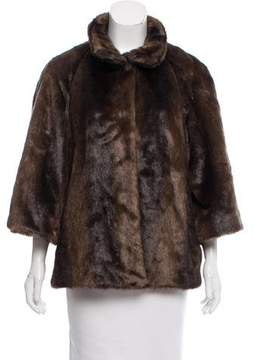 T Tahari Faux Fur Long Sleeve Jacket