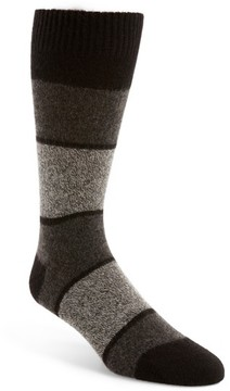 Pantherella Men's Block Stripe Cashmere Socks