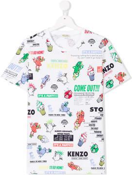 Kenzo all-over print T-shirt