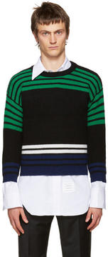 Raf Simons Multicolor Wool Shrunken Sweater