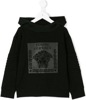 Young Versace Medusa and Greek Key print hoodie
