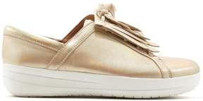 FitFlop F-Sporty II Leather Lace-Up Fringe Sneaker