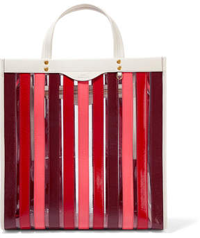 Anya Hindmarch Paneled Leather And Pvc Tote - Red