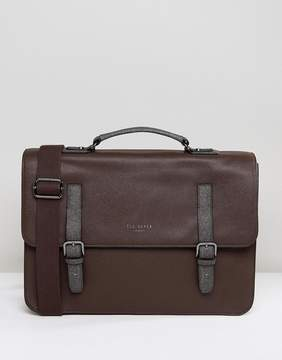 Ted Baker Chase Satchel in Crossgrain