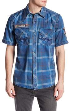 Affliction Mind Games Short Sleeve Print Woven Regular Fit Shirt