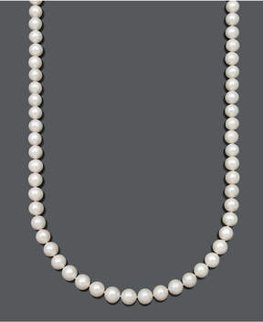 Belle de Mer Gold Aa Cultured Freshwater Pearl Strand Necklace (9-1/2-10-1/2mm) in 14k Gold
