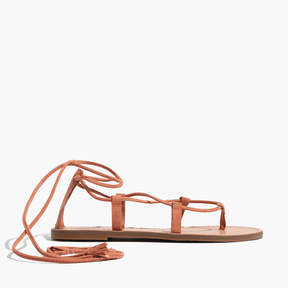 Madewell The Boardwalk Lace-Up Sandal in Suede