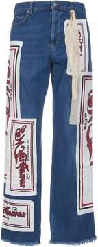 J.W.Anderson Patchwork Logo Jeans