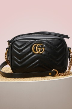 Gucci GG Marmont matelassé mini bag - HIBIS RED HIBIS RED - STYLE