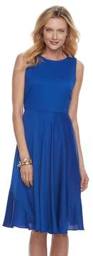 Dana Buchman Women's Sleeveless Paneled Circle Cut Dress
