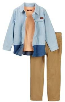 7 For All Mankind Denim Shirt, Tee, & Jean Set (Toddler Boys)