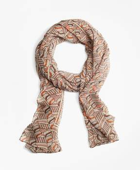 Brooks Brothers Silk BB Initial Scarf