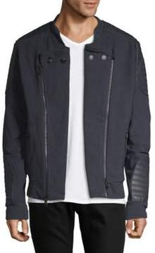Pierre Balmain Leather Accented Jacket
