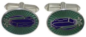 Tiffany & Co. 925 Sterling Silver With Enamel Cufflinks