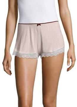 Eberjey Bow Lace Cuff Shorts