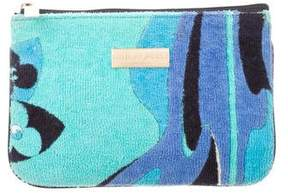 Emilio Pucci Printed Leather-Trimmed Zip Pouch