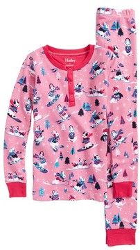 Hatley Toddler Girl's Snow Bunnies Fitted Two-Piece Pajamas