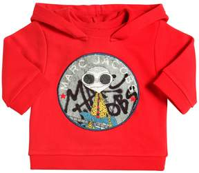 Little Marc Jacobs Hooded Cotton Sweatshirt